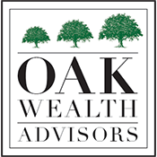 Oak Wealth Advisors, LLC logo with green trees in box